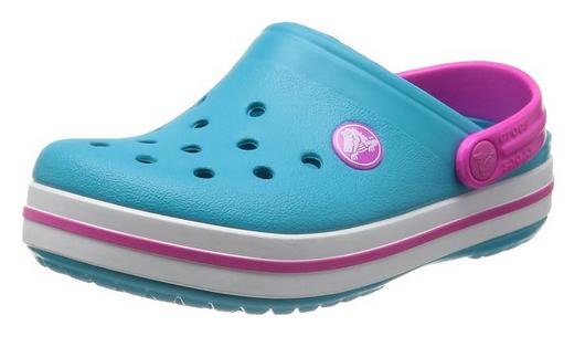 sprzedaje niższa cena z najtańszy Crocs Crocband Surf Neon Magenta Turkusowe-różowe klapki