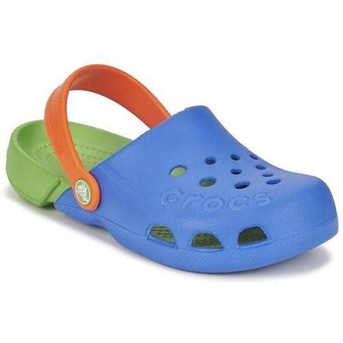 dobrze znany nowe obrazy świetna jakość Crocs Kids Electro Sea Blue Lime Niebieskie-zielone klapki dla dzieci